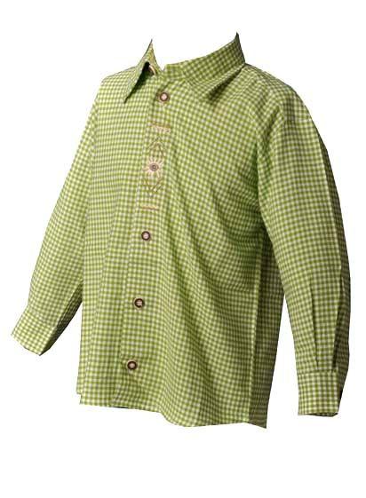 Kinder-Trachtenhemd Joachim giftgrün OS Trachten