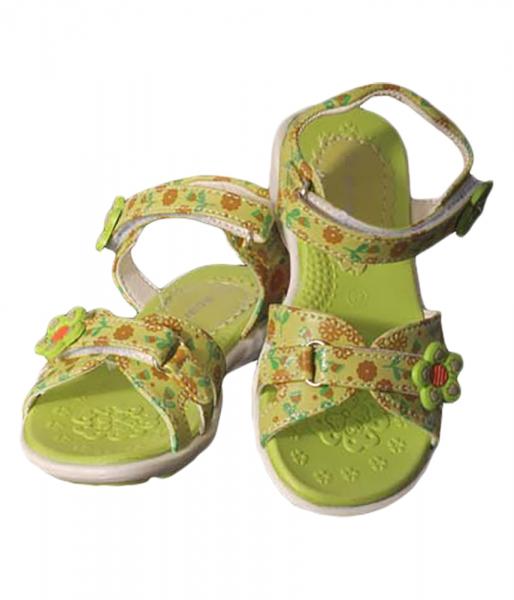 Kinder Sandaletten Tina grün Klettverschluß