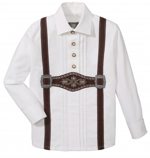 Kinder Trachtenhemd Eckersdorf weiß lang Hosenträger OS Trachten