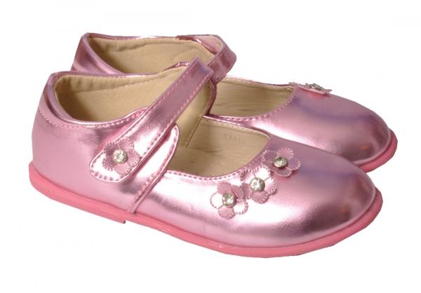 Mädchen Ballerina Trachtenschuh Lackschuh pink