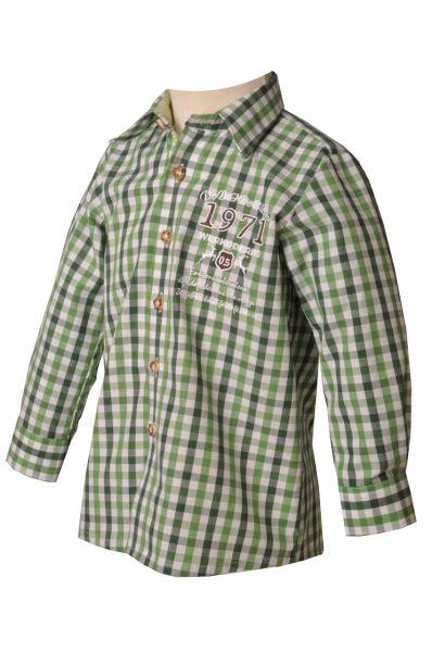 Kinder Trachtenhemd Sebastian grün OS Trachten