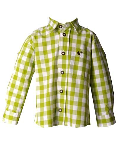 Kinder Trachtenhemd Dominik giftrün Krempelarm OS-Trachten