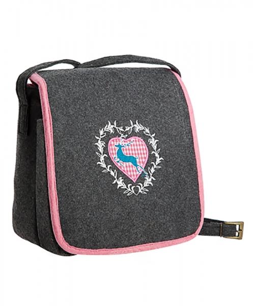 Trachtentasche grau/rosa