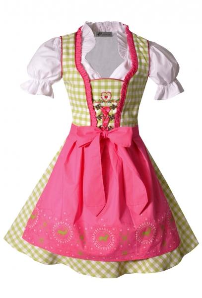 Kinderdirndl Josy grün/pink Set 3-teilig von Bayer Madl