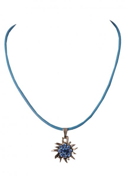 Kinder Trachtenkette Hurlach Edelweiß hellblau