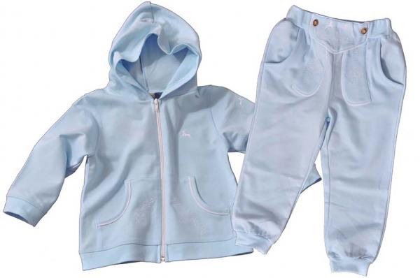 Baby Jogginganzug Haselbach hellblau Isar Trachten