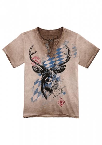 B-Ware / 2. Wahl - Kinder Trachten T-Shirt Ferdi braun Bavaria Hangowear