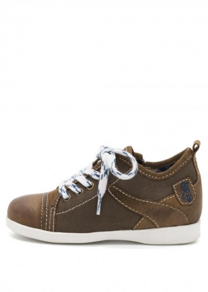 Trachten Sneaker für Kinder in braun Canvas Nubuk Spieth & Wensky