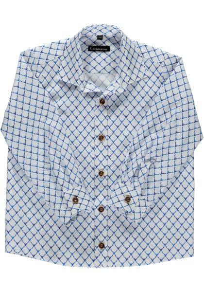 Kinder Trachtenhemd Nonnhof jeans blau Langarm Hirschmotiv OS Trachten