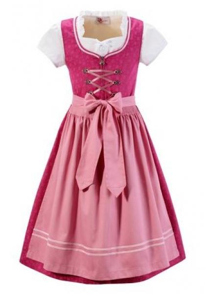Kinderdirndl Jugenddirndl Sophie pink rosa Set 3-tlg. Turi Landhaus