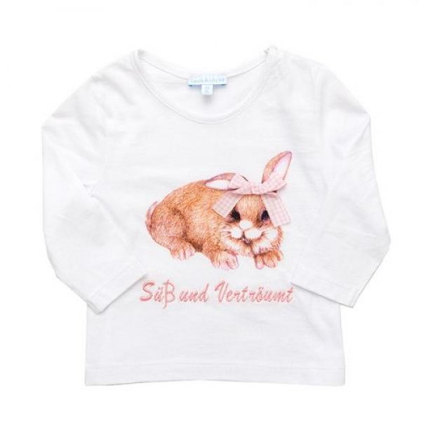 Baby Shirt Hase/Süß und Verträumt weiß/rosa Louis & Louisa