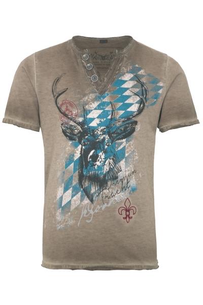 Kinder Trachten T-Shirt Ferdi braun Bavaria Hangowear