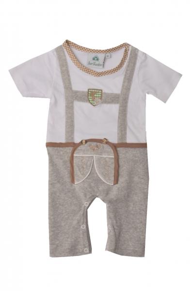 Baby Trachtenstrampler Kühbach grau Isar Trachten