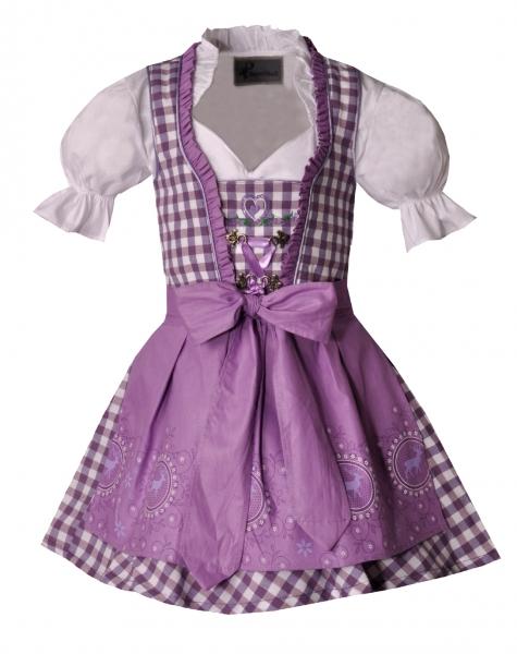 Kinderdirndl Josy lila Set 3-tlg. Bayer Madl
