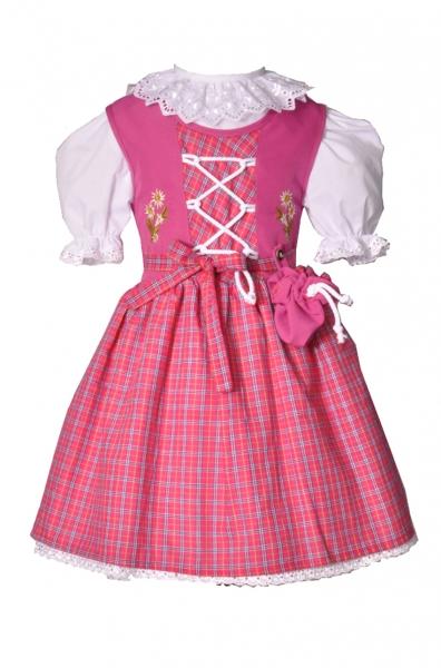 Kinderdirndl Trachtenkleid Wörnitz pink 2-tlg. Trachtenset