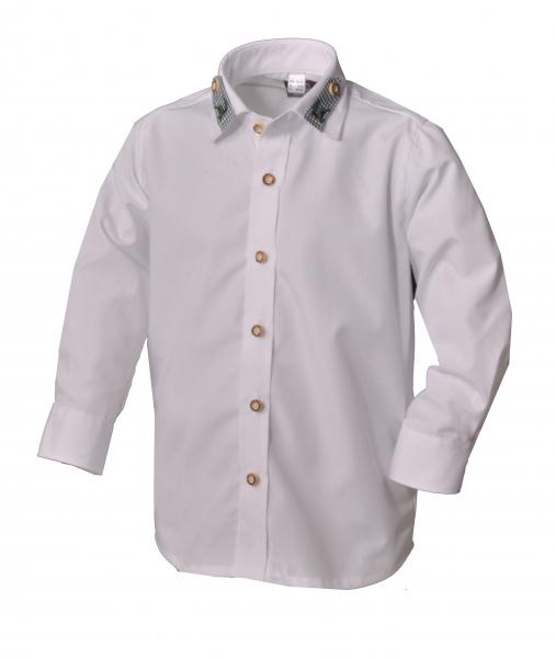 Kinder Trachtenhemd Kammlach weiß Langarm OS-Trachten