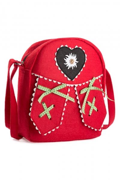Trachtentasche Hosenlatz rot
