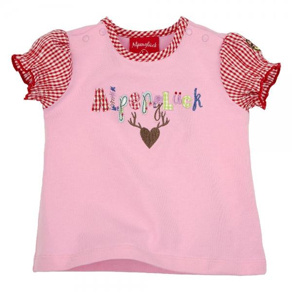"""Kinder T-Shirt """"Alpenglück"""" rosa Kurzarm Bondi"""