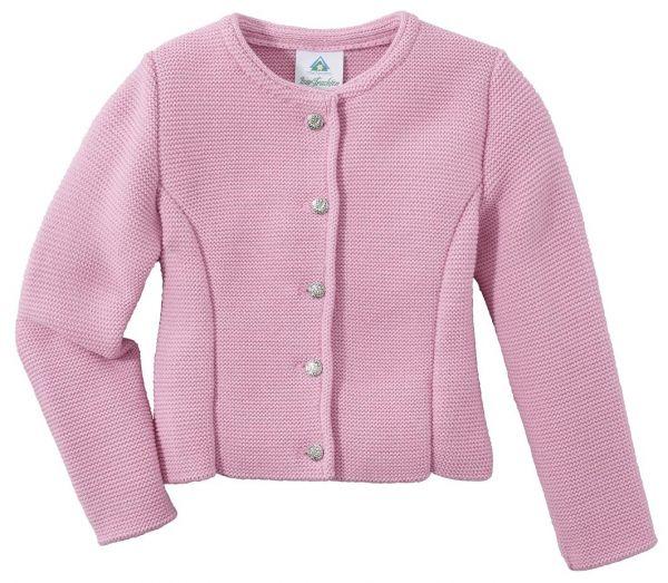 B-Ware / 2. Wahl - Kinder Trachten Strickjacke Laaberweinting rosa Isar Trachten