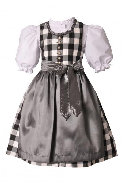 Kinderdirndl Lucy schwarz/grau 3-tlg. Set Kaiser Franz Josef
