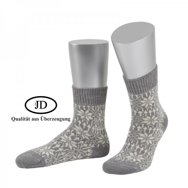 Norwegersocken Socken in hellgrau und weiß von JD