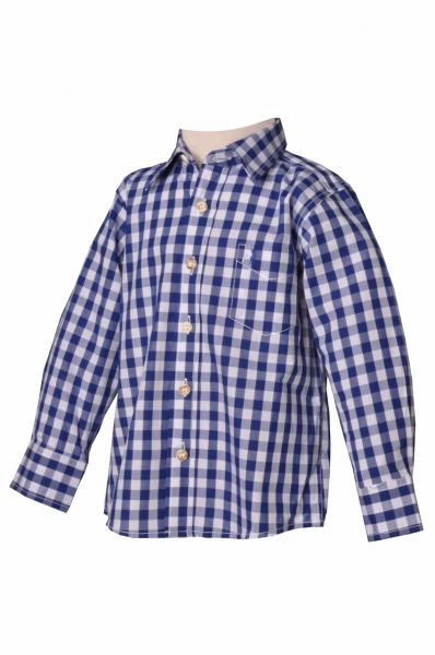 Kinder Trachtenhemd Leonhard blau Almsach