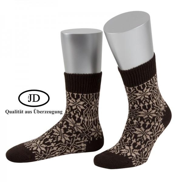 Norwegersocken Socken in braun und beige von JD