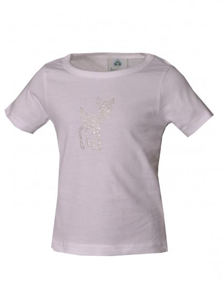 Kinder Trachten T-Shirt Hohenwarth weiß Kurzarm Isar-Trachten Trachtenshirt