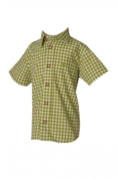 Kinder Trachtenhemd Ronny giftgrün kurzarm OS Trachten