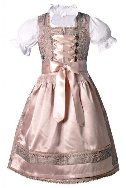 Kinderdirndl Jugenddirndl Trautskirchen rosa Set 3-tlg. Bayer Madl