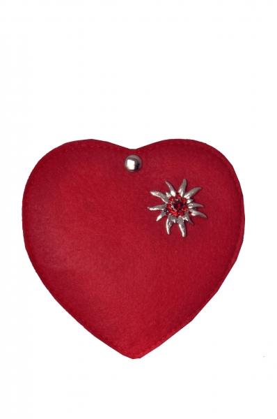 Kinder Trachtentasche Herz Perlesreut rot Wolkenweis