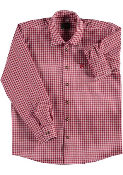 Kinder Trachtenhemd Santing mittelrot OS Trachten