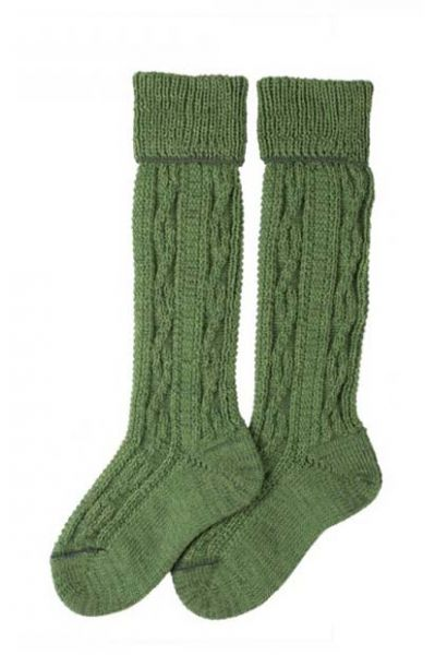 Kinder Kniebundstrümpfe grün Lusana