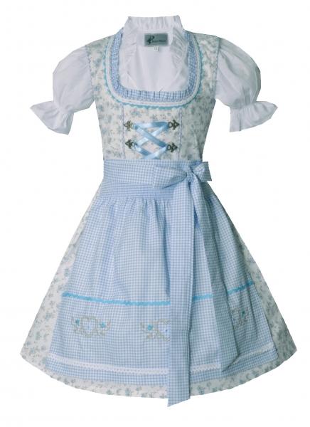 Kinderdirndl Jugenddirndl in creme / blau Set 3-tlg. Kleinaitingen von Bayer Madl