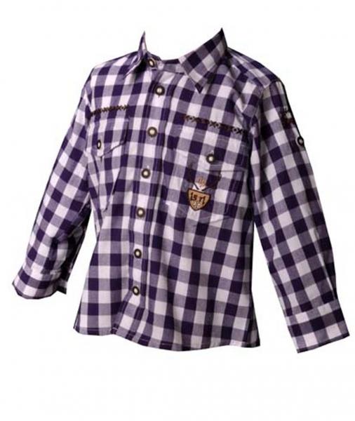 Kinder Trachtenhemd Andy lila OS Trachten