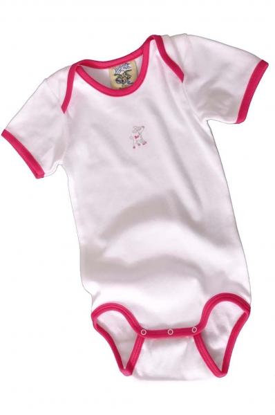 Baby Trachtenbody Habach weiß/pink Isar Trachten