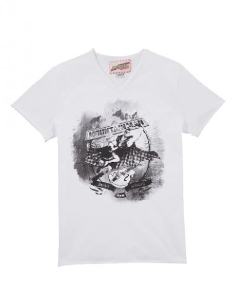 B-Ware / 2. Wahl - Kinder Trachten T-Shirt Mountainman weiß Andreas Gabalier by Hangowear