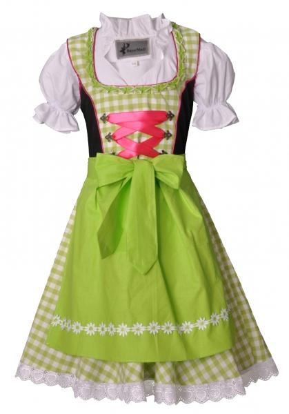 Kinderdirndl Colmberg grün/pink/schwarz Trachtenset 3-tlg. Bayer Madl