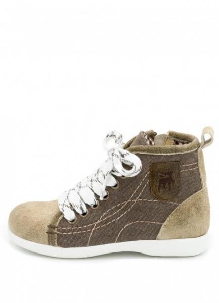 Kinder Sneaker Braun Canvas/WB Alt schoko/whisky Spieth & Wensky
