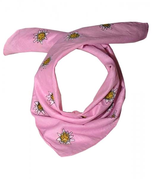 Trachtentuch rosa/pink Edelweiß