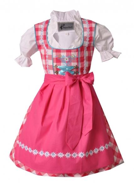 Kinderdirndl Tapfheim pink/weiß/türkis Set 3-tlg. BayerMadl