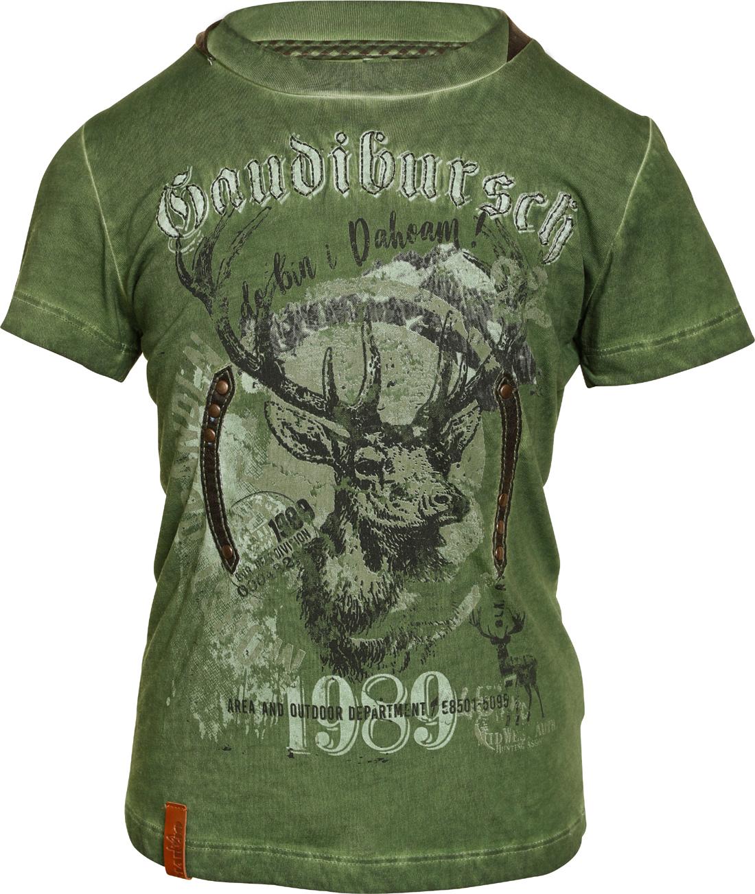 reputable site 08edd 7d021 Kinder Trachten T-Shirt Trachtenshirt Gaudibursch grün Marjo