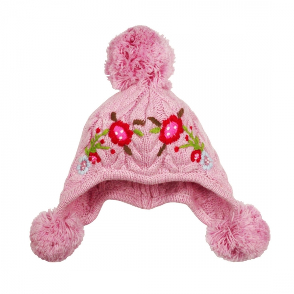 Kinder Trachten Strickmütze rosa Bondi