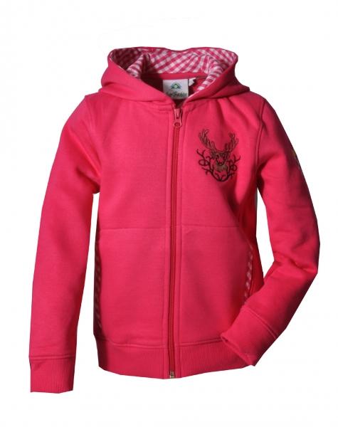 Kinder Trachten Kapuzenjacke Gaukönigshofen rosa Isar-Trachten Trachtenjacke