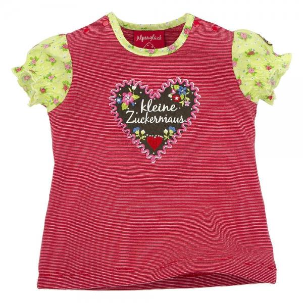 """Kinder T-Shirt """"kleine Zuckermaus"""" rot Kurzarm Bondi"""