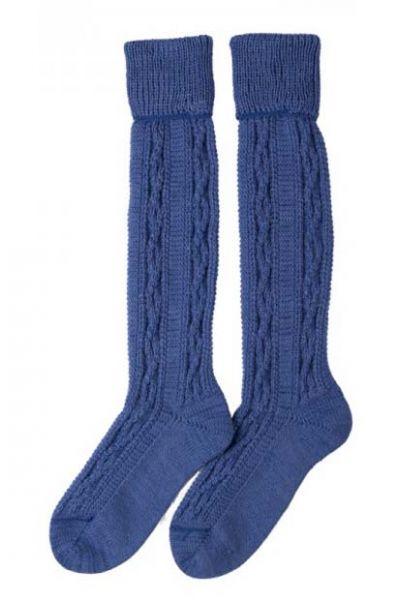 Kinder-Kniebundstrümpfe blau von JD