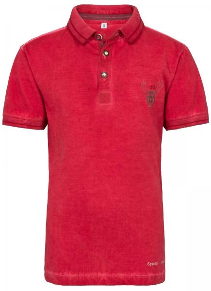 Trachtenshirt Poloshirt Geier rot Spieth & Wensky