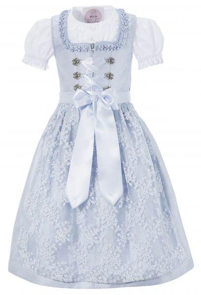 B-Ware Kinderdirndl Eloisa hellblau blau Trachtenset 3 tlg. Marjo