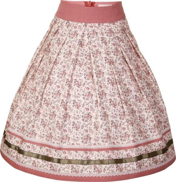 Trachtenrock Nala 58 cm creme altrosa Marjo