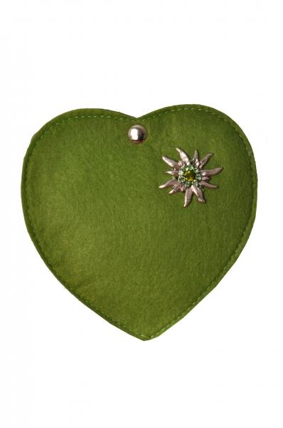 Kinder Trachtentasche Herz Perlesreut grün Wolkenweis